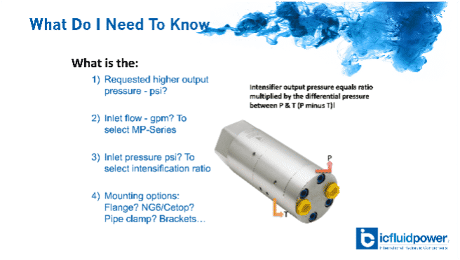 Pressure Intensifier What do I need to know